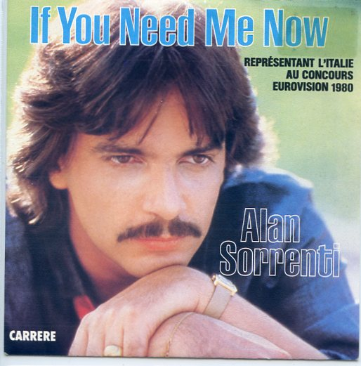 "ALAN SORRENTI ""If you need me now"" 1980"