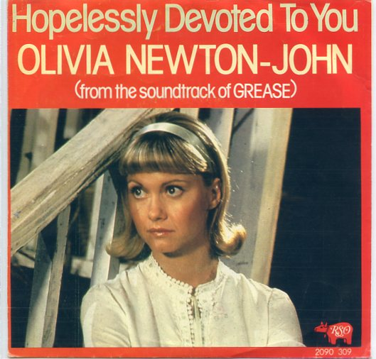 "OLIVIA NEWTON-JOHN ""Hopelessly devoted to you"""