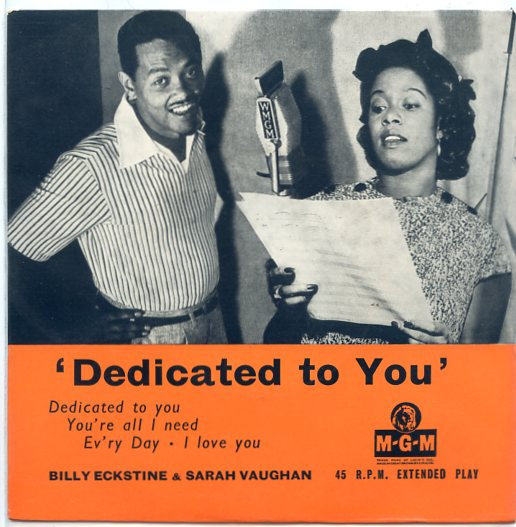 "BILLY ECKSTINE & SARAH VAUGHAN ""Dedicated to you"" EP"