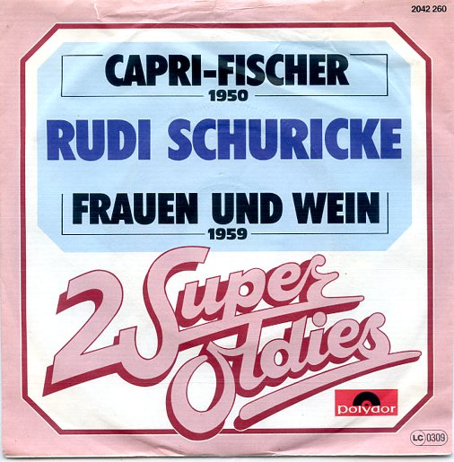 "2 Super Oldies ""RUDI SCHURICKE"" (jb)"