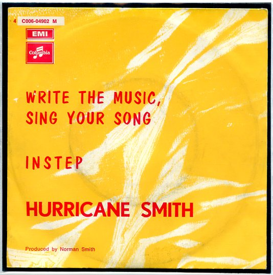 "HURRICANE SMITH ""Write the music, sing your song"""