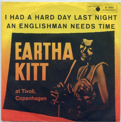 "EARTHA KITT ""An Englishman needs time"""