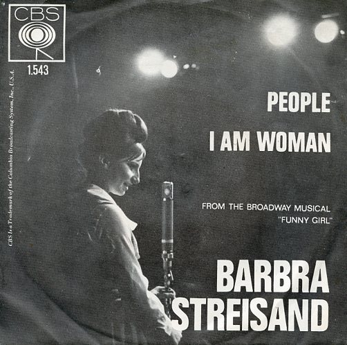 "BARBRA STREISAND ""People"" (witte letters)"