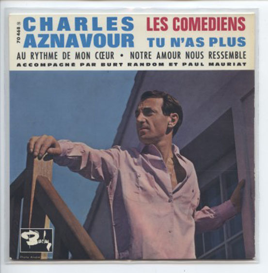 "CHARLES AZNAVOUR ""Les Comediens"" EP"