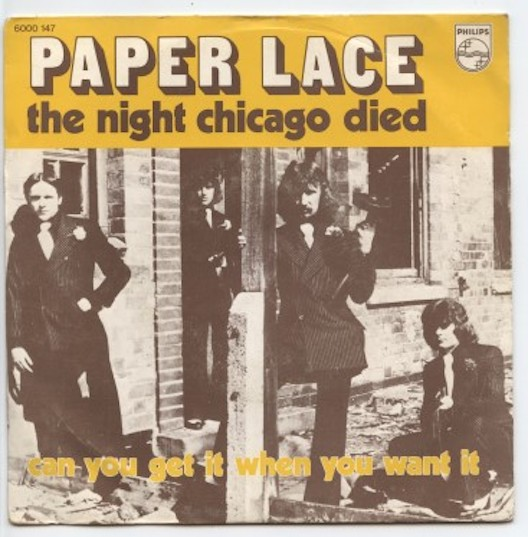 "PAPER LACE ""The night Chicago died"" (b)"
